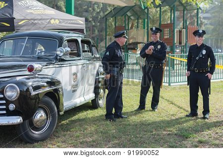 Vintage Ford Police Car On Display