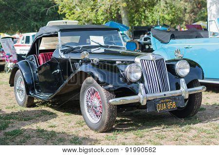 Mg Tf Midget Car On Display