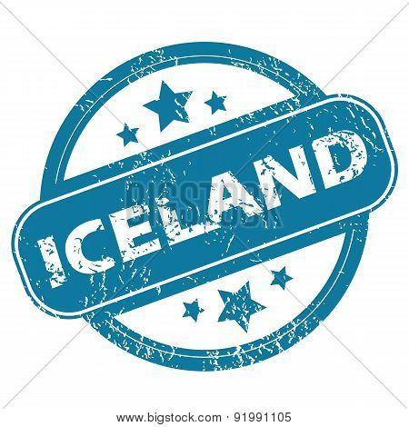 ICELAND round stamp