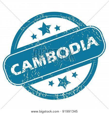 CAMBODIA round stamp