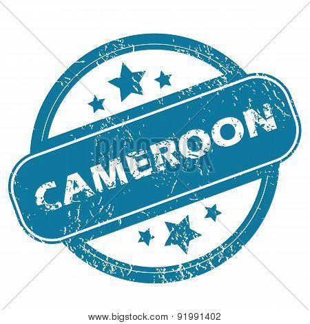 CAMEROON round stamp