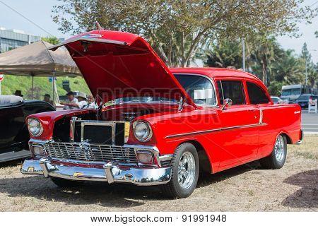 Chevrolet Bel Air Car On Dlisplay