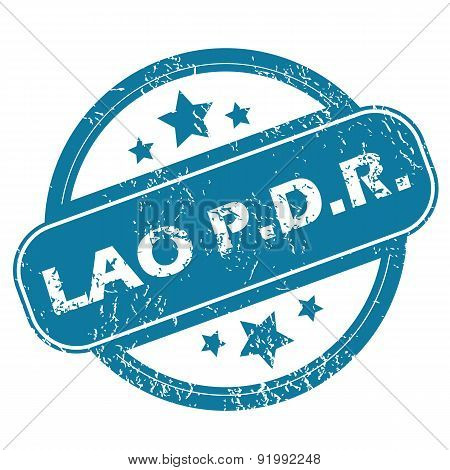 LAO PDR round stamp
