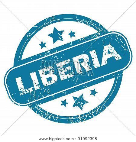 LIBERIA round stamp