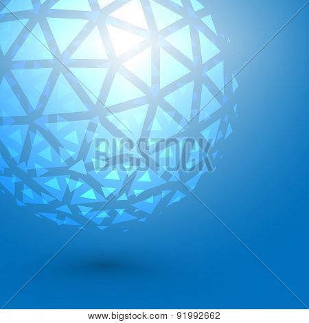 Graphic Concept of Abstract Triangle Mesh Shape