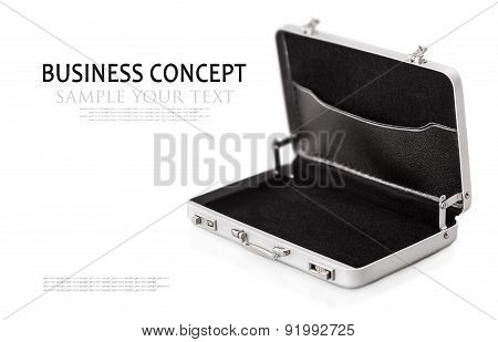 Aluminum Case Small Isolated On A White