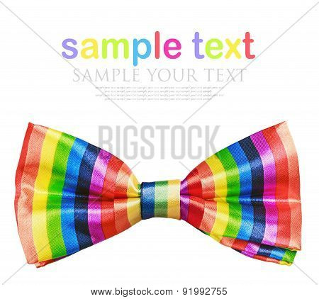 Butterfly Rainbow Tie Isolated