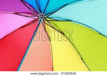 Colorful Outdoor Rainbow Umbrella