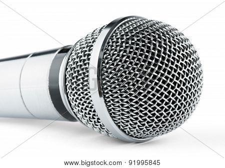 Silver Microphone