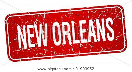 New Orleans Red Stamp Isolated On White Background