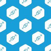 picture of gender  - Blue image of gender symbols in white hexagon - JPG