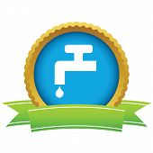 pic of ooze  - Round icon with ribbon - JPG