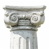 picture of ionic  - Isolated detail of the head of a greek ionic column - JPG