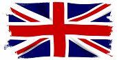 image of union  - The British Union Flag or Union Jack with white grunge border - JPG