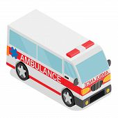 stock photo of ambulance car  - Vector illustration of ambulance car - JPG