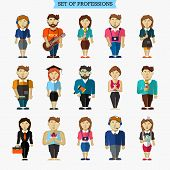 picture of yoga instructor  - Set of professions - JPG