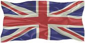 stock photo of union  - The British Union Flag or Union Jack when used on board ship isolated on white - JPG