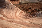 picture of valley fire  - The Fire Wave in the Valley of Fire the oldest and biggest State Park in Nevada - JPG