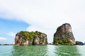 Постер, плакат: Landscape Khaotapu Or James Bond Island