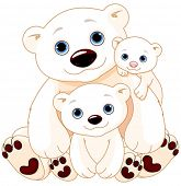 image of baby bear  - Illustration of Mommy and Daddy bears with their babies - JPG