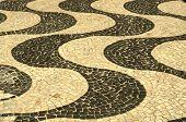 foto of carnival rio  - Typical sidewalk of Rio de Janeiro designed by Oscar Niemeyer - JPG