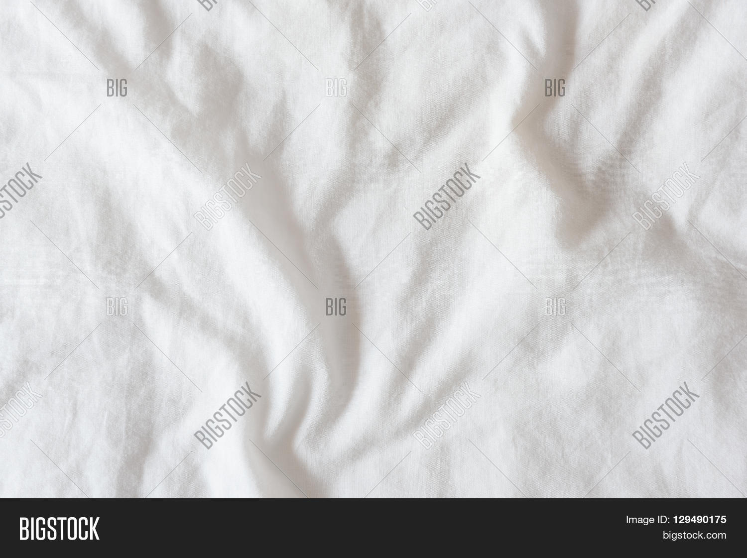 Black and white bed sheets texture - Top View Of Creased Wrinkles On A White Unmade Messy Bed Sheet After Waking