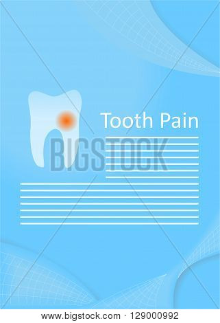 illustration on the theme of medicine - pain of the tooth.