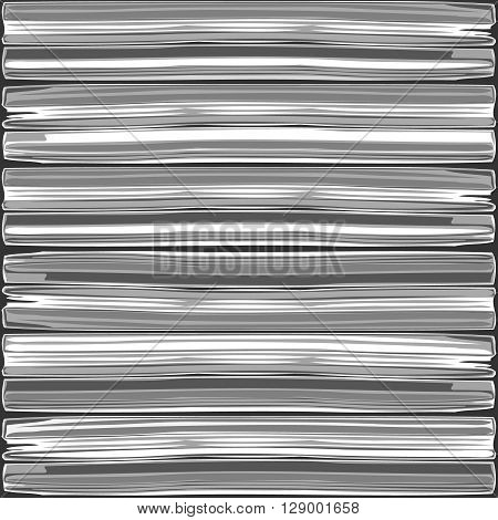 A large stack of newspapers and magazines background, Black and white vector illustration.