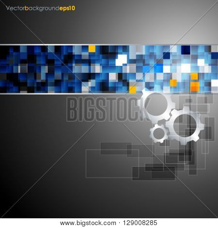 Silver vector abstract technology background