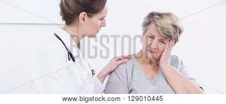 Patient With Headache In Office