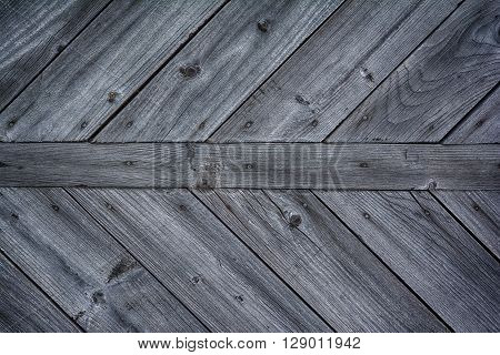 Dark grey wooden background. Old vintage surface