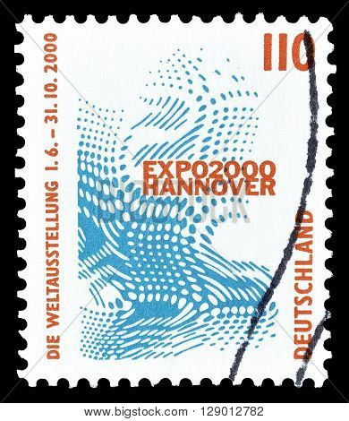 GERMANY - CIRCA 2000 : Cancelled postage stamp printed by Germany, that promotes Fair in Hannover.