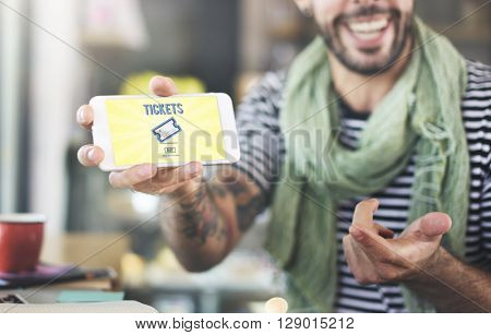 Tickets Buying Payment Event Entertainment Concept