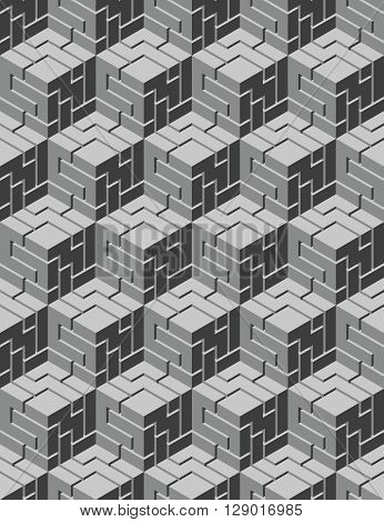 Vector geometric pattern for a seamless images (cubic style)