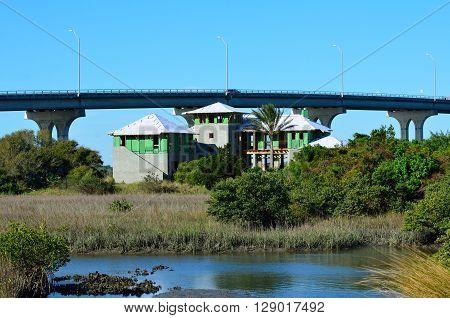 Multi Family Home Construction on the marshland of Florida, USA.