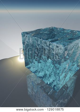 Ice Cube 3D Render