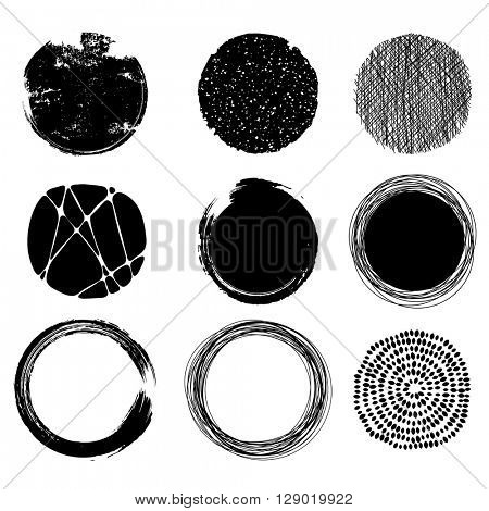 set of graphic circles, eps10 vector