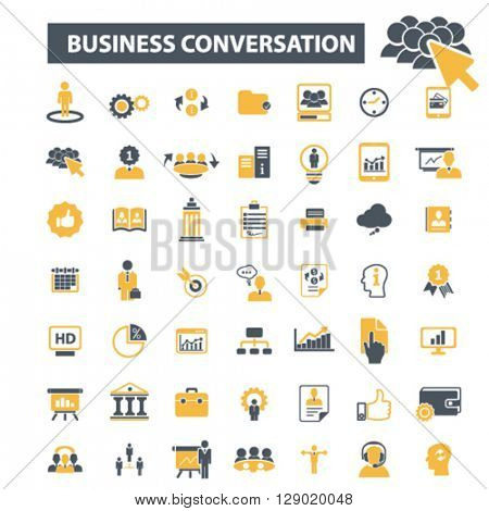 business conversation icons