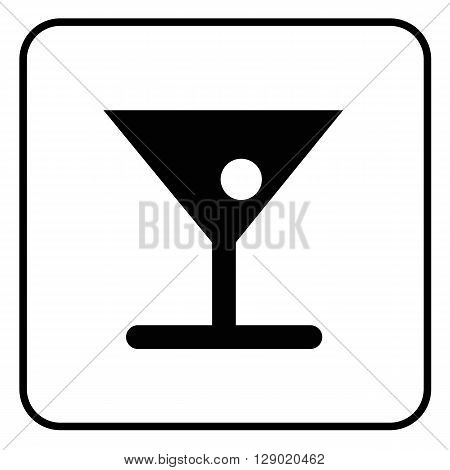 a black and white pictogram on alcoholic beverages