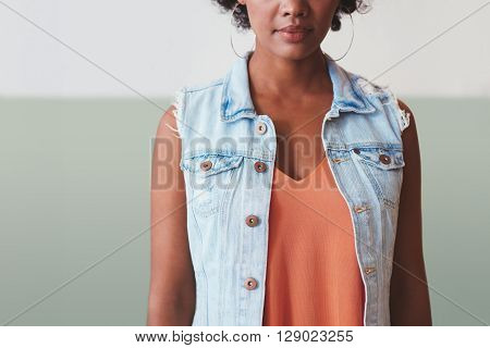 Young African Woman In Stylish Casuals