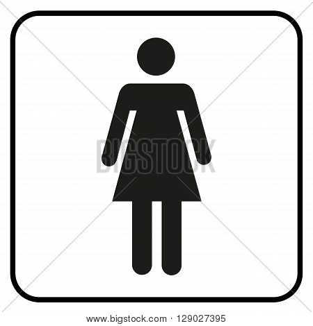 a pictogram of a woman WC Toilet