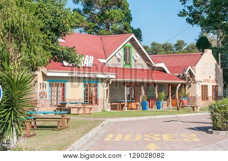 SEDGEFIELD SOUTH AFRICA - MARCH 4 2016: A restaurant and art and crafts centre at The Island in Sedgefield