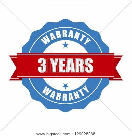 Three years warranty seal - round stamp