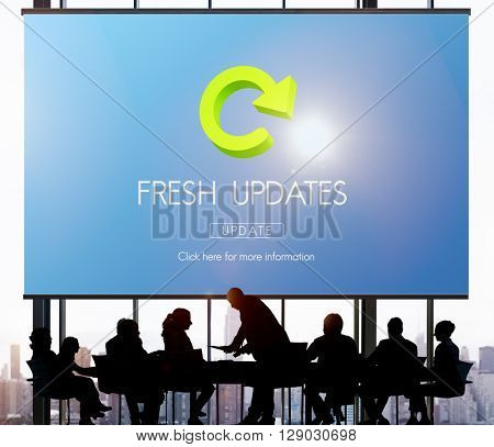 Lastest Version Fresh Updates Application Updates Concept