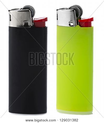 Plastic Lighters Isolated