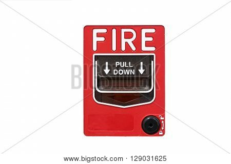 fire alarm notify isolate on white background