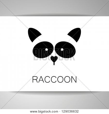Raccoon. Raccoon logo. Isolated raccon head on white background. Raccoon mascot idea for logo, emblem, symbol, icon. Vector illustration.