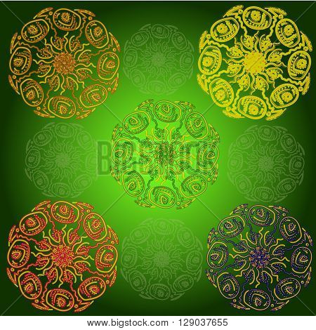 Bright background with lace of elements, mandala, soft, design, geometric shapes. Use as background, design, wallpaper on the desktop, decoration, design, fashion, interior, packaging paper, podprochnoy, certificates, registration booklets, postcards, wal