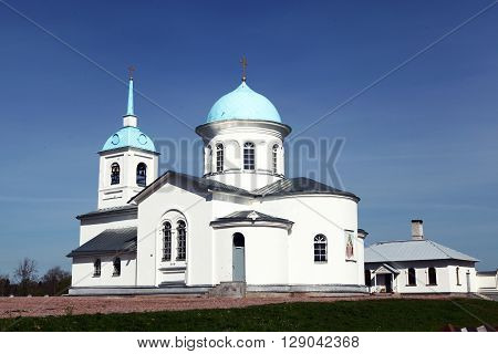 The Protection of the Mother of God Convent in Tervenichi. Church of the Intercession of the Mother of God. Tervenichi, Russia