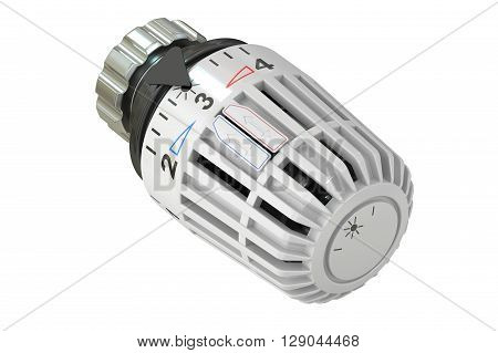 Thermostat 3D rendering isolated on white background